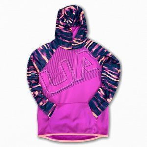 Under Armour Loose Cold Gear Hoodie Pink Navy YLG